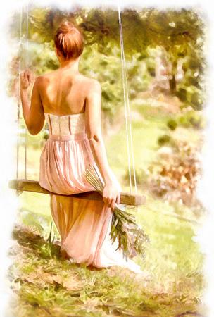 Фото на холсте Художественный дизайн акварель пример 1 - skazkavrame.ru - Сказка в раме
