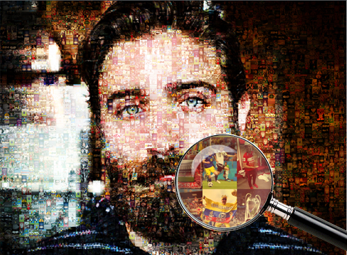Мозаика на холсте футбол пример - Сказка в раме - Skazkavrame.ru