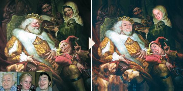 Фото на холсте в художественном стиле или в образе - пример-2 - Сказка в раме - skazkavrame.ru