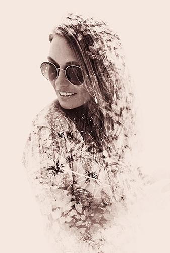 Портрет девушки в стиле Двойная экспозиция - skazkavrame.ru