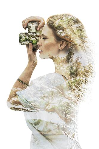 Портрет девушки с наложением ветвей деревьев - skazkavrame.ru