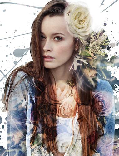 Портрет девушки с наложением букета - skazkavrame.ru