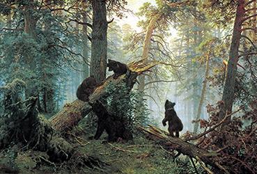 Печать репродукций на холсте - Медведи Васнецов - skazkavrame.ru