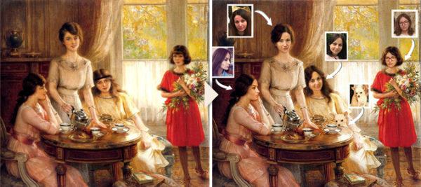 Художественный дизайн-портрет в образе сестры - печать на холсте - skazkavrame