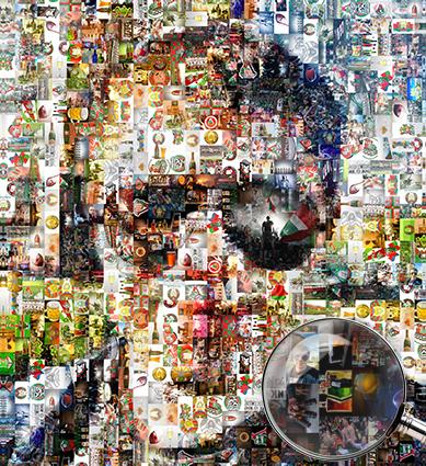 Фотомозаика на холсте или мозаика на холсте мужчина и футбол - skazkavrame.ru