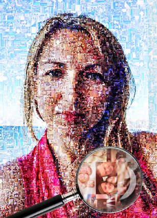 Фотомозаика на холсте или мозаика на холсте девушка и море - skazkavrame.ru