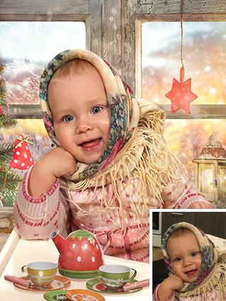Портрет девочки с заменой фона - skazkavrame.ru
