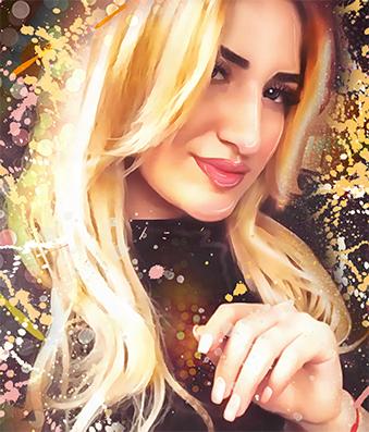 Портрет по фото в стиле Дрим Арт красивая девушка - skazkavrame.ru