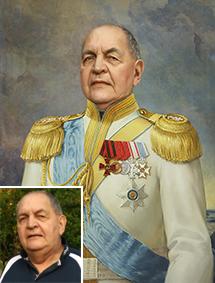 Портрет по фото в образе офицера - skazkavrame.ru